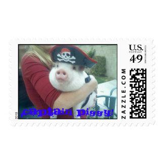 103108_17501[1], Captain Piggy! Postage Stamp