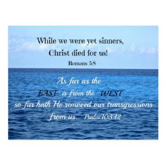 103:12 del salmo tarjetas postales