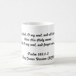 103:1 del salmo - 2 (rey James Version) Taza De Café