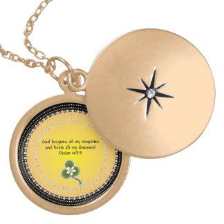 103:3 curativo del salmo del Locket del rezo Medallón