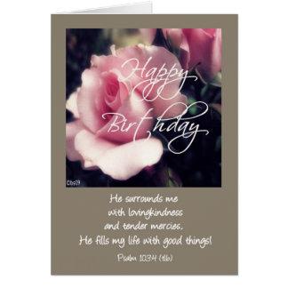 103:4 del salmo del feliz cumpleaños tarjeta de felicitación