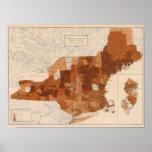 103 cánceres, tumor NY, NJ, Nueva Inglaterra Impresiones