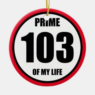 103 - prime of my life ceramic ornament