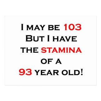 103 Stamina Postcard