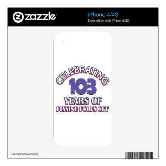 103 years of raising hell iPhone 4 decals