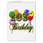 103o Cumpleaños con los globos Felicitaciones