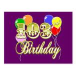 103o Cumpleaños con los globos Postal