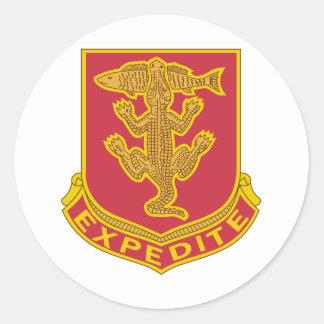 103o Regimiento de la armadura Pegatina Redonda