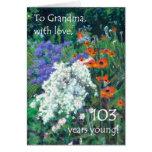 103o Tarjeta de cumpleaños para la abuela - jardín