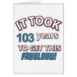 103os diseños del cumpleaños del año felicitación