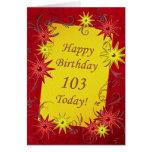 103rd Birthday card