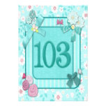 103rd birthday party invitation