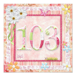 103rd birthday party scrapbooking style card
