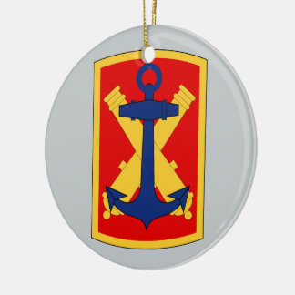 103rd Field Artillery Brigade Double-Sided Ceramic Round Christmas Ornament