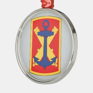 103rd Field Artillery Brigade Round Metal Christmas Ornament