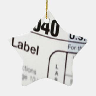 1040Tax Ceramic Ornament