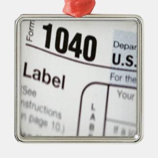 1040Tax Metal Ornament