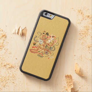 1049.2 Give Thanks In All Circumstances-01.png Carved® Maple iPhone 6 Bumper