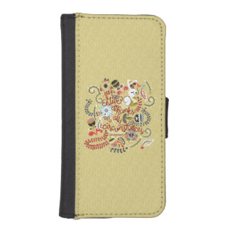 1049.2 Give Thanks In All Circumstances-01.png iPhone SE/5/5s Wallet Case