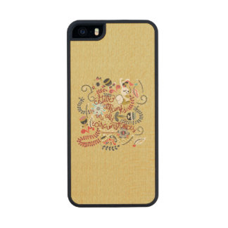1049.2 Give Thanks In All Circumstances-01.png Wood Phone Case For iPhone SE/5/5s