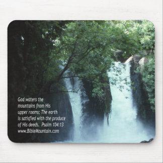 104:13 de la cascada y del salmo de Banias Alfombrillas De Ratones
