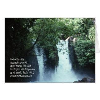 104:13 de la cascada y del salmo de Banias Tarjeta De Felicitación