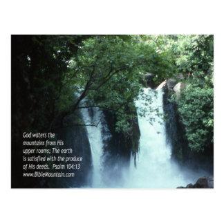104:13 de la cascada y del salmo de Banias Tarjetas Postales