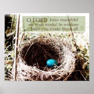 104:24 del salmo póster