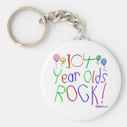 ¡104 años de la roca! llavero