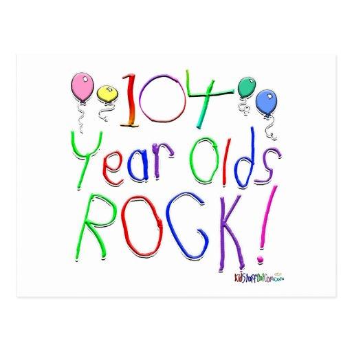 ¡104 años de la roca! tarjeta postal