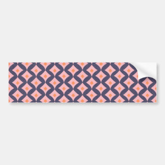 104 BLUE DIAMOND SHAPED ORANGE DOTS PINK ZIGZAGS P BUMPER STICKER