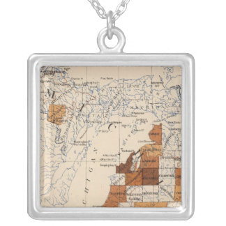 104 Cancer, tumor Michigan Silver Plated Necklace