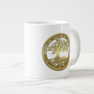 [104] Golden Celtic Tree of Life [3D] Giant Coffee Mug
