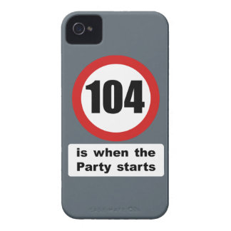 104 is when the Party Starts iPhone 4 Case-Mate Case