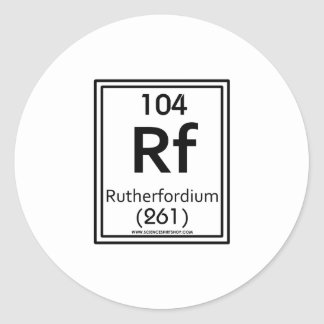 104 Rutherfordium Classic Round Sticker