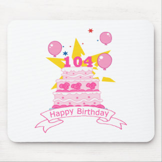 104 Year Old Birthday Cake Mouse Pad