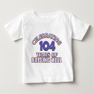 104 year old designs baby T-Shirt