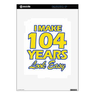104 YEARS OLD BIRTHDAY DESIGNS iPad 2 SKIN