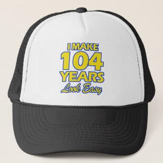 104 YEARS OLD BIRTHDAY DESIGNS TRUCKER HAT