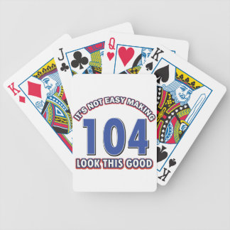 104th birthday designs bicycle playing cards