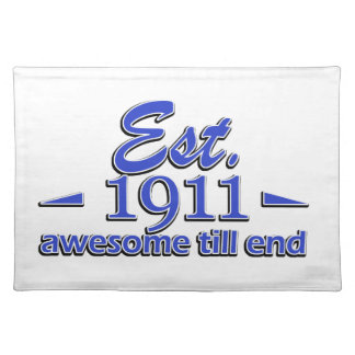 104th birthday designs cloth placemat