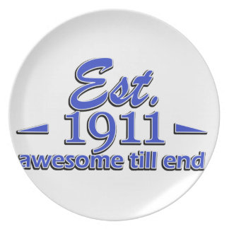 104th birthday designs dinner plate