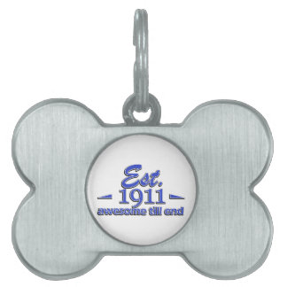 104th birthday designs pet ID tag