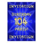 104th Birthday party invitation