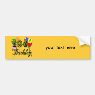 104th Birthday with Balloons Car Bumper Sticker