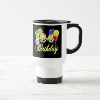 104th Birthday with Balloons Travel Mug