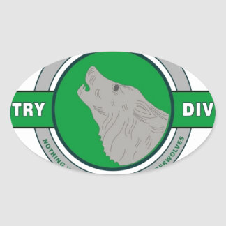 "104TH INFANTRY DIVISION ""TIMBER WOLF"" OVAL STICKER"