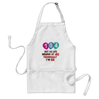 104th year birthday designs adult apron