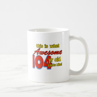 104th year old designs coffee mug