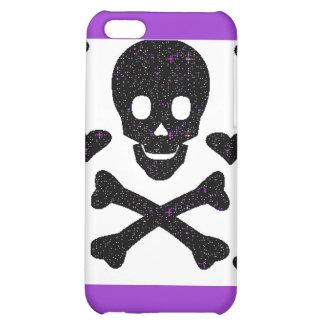 10585 black skull crossbones heart iPhone 5C case